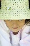 Schüchternes Mädchen-Portrait Lizenzfreie Stockfotografie