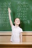 Schüler kennt die Antwort stockfotos