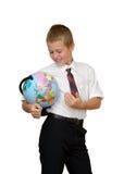 Schüler mit Kugel lizenzfreies stockfoto