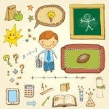 Schüler-Satz Stockbild