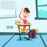 Schüler Sit School Desk Classroom Lesson Lizenzfreie Stockfotos