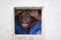 Schüler in Surinam Stockfotografie
