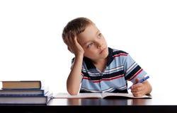 Schüler tut Lektionen lizenzfreies stockbild