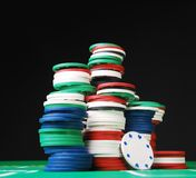 Pokerchips Lizenzfreies Stockbild