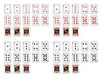 Schürhakenkarten Lizenzfreies Stockfoto