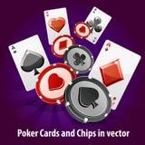 Schürhakenkarten- und -chip-Hintergrund Lizenzfreies Stockfoto