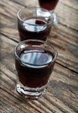 Schüsse des alkoholischen Getränks Lizenzfreie Stockfotografie