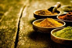 Schüssel asiatisches Curry-Pulver Stockbild
