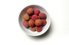 Schüssel chinesische lychee Frucht Stockbilder