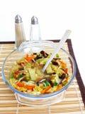 Schüssel chinesische Suppe. Lizenzfreies Stockbild