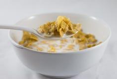 Schüssel Corn Flakes Stockfotografie