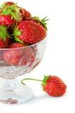 Schüssel der Erdbeere Lizenzfreie Stockbilder