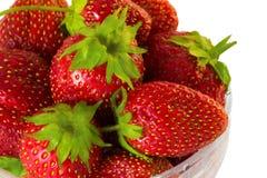 Schüssel der Erdbeere Stockbilder