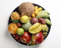 Schüssel exotische Frucht Lizenzfreies Stockbild
