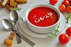 Schüssel Gemüsesuppe lizenzfreie stockfotografie