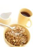 Schüssel gesundes muesli zum Frühstück stockfoto