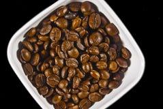 Schüssel Kaffeeabschluß Stockbild