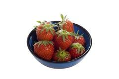 Schüssel mit Erdbeeren Stockbilder
