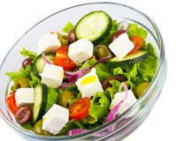 Schüssel mit Salat Stockfotografie