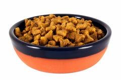 Schüssel Nahrung für Haustiere Stockfotos