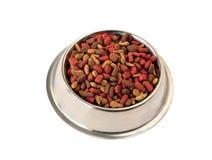 Schüssel Nahrung für Haustiere für Katzen und Hunde Lizenzfreies Stockfoto