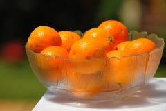 Schüssel Orangen Lizenzfreie Stockfotos
