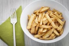 Schüssel Pommes-Frites Stockfotos