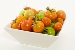 Schüssel reifende Tomaten Lizenzfreie Stockfotografie