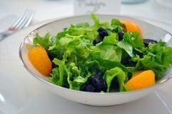 Schüssel Salat in weißem China Lizenzfreie Stockfotos