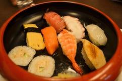 Schüssel Sushi Stockfoto
