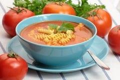 Schüssel Tomate Suppe Stockbild