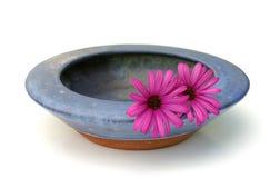 Schüssel und Blumen lizenzfreie stockfotos