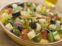 Schüssel Valencian Salat lizenzfreies stockfoto