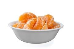 Schüssel voll Orangen Lizenzfreie Stockfotos