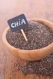 Schüssel von Chia-Samen Stockbilder