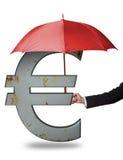 Schützen des Euro Stockfotos