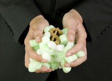 Schützen Ihres Finanzdollarsymbols Stockbild