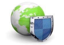 Schützen Sie die Welt - 3d Stockbild