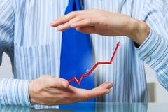Schützen Sie Ihr steigendes Einkommen Lizenzfreie Stockbilder