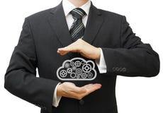 Schützen Sie Ihr Wissen und kommerziellen Daten lizenzfreie abbildung
