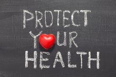 Schützen Sie Ihre Gesundheit Lizenzfreie Stockfotos