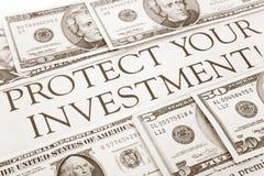 Schützen Sie Ihre Investition Stockfoto