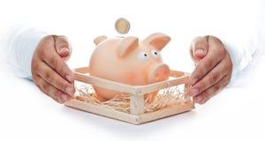 Schützen Sie Ihre Sparungen Lizenzfreie Stockbilder