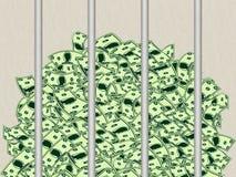 Schützen Sie Ihren geld- eingesperrten Reichtum stock abbildung