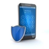 Schützen Sie Ihren Handy Stockfotografie
