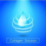 Schützen Sie Kollagenlösung Vektordesign skincare Wesentlichtropfen Lizenzfreie Stockbilder