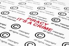 Schützen Sie Piraterie urheberrechtlich Lizenzfreies Stockbild