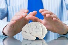 Schützen Sie psychische Gesundheit Stockbilder