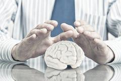 Schützen Sie psychische Gesundheit Lizenzfreies Stockfoto