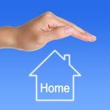 Schützen Sie sich nach Hause Lizenzfreies Stockbild